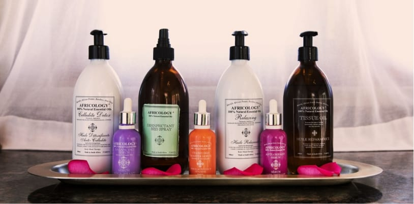 Proudly African, locally sourced wellness retreat products used at Finch Hattons Luxury Safari Park in Kenya