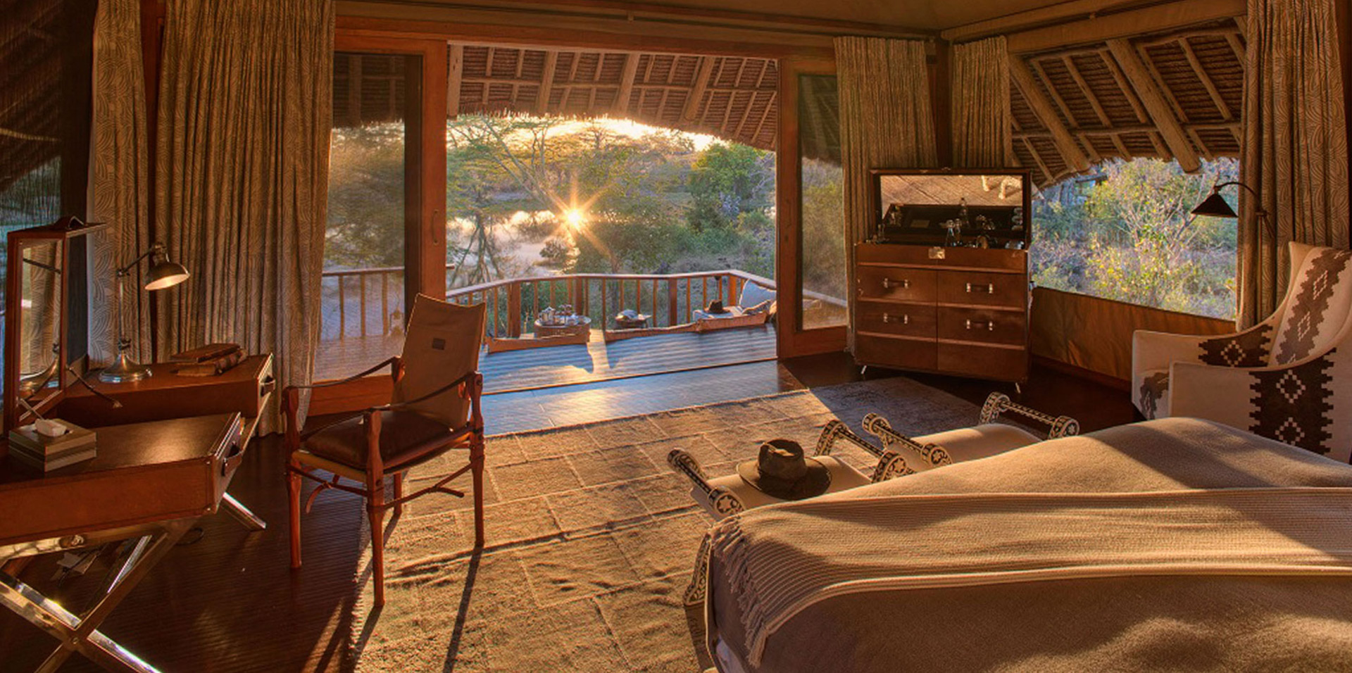 Luxury tent suite at finch hattons in Kenya, Africa