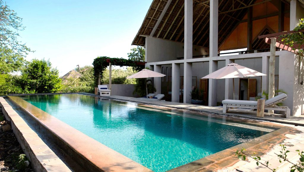 Crystal-Clear swimming pool at Finch Hattons Luxury Safari Camp